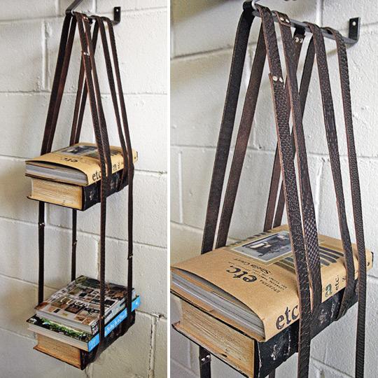 Bookshelf DIY Leather Belts 540 x 540