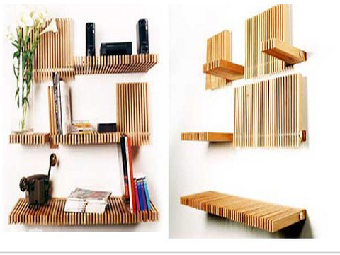diy collapsible bookshelf 1