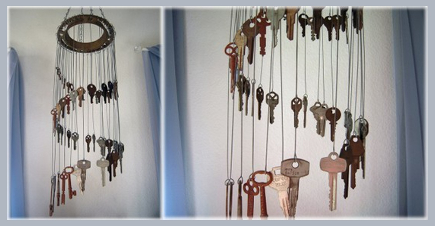keys cylinder chime