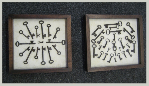wooden frame multiple keys
