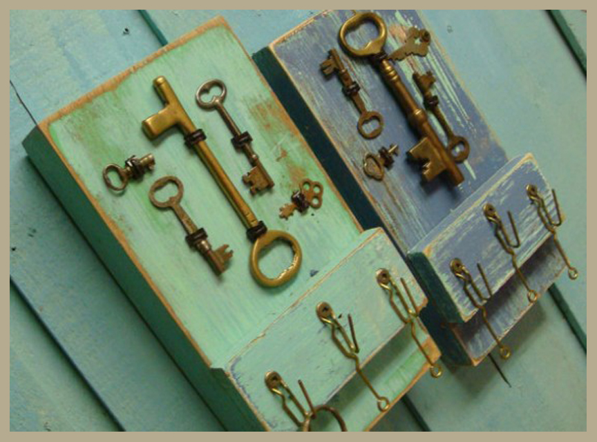 Wooden Key Rack Holder