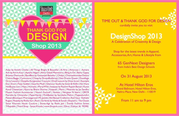 Thank God For Design Shop 2013 Invite